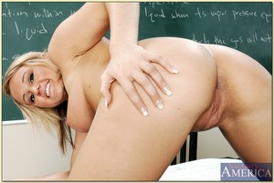 Adorable college fairy Abby Taylor expanding booty and fondling tits