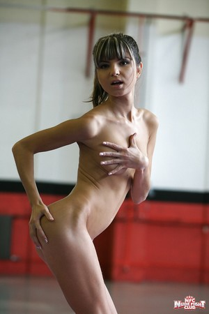 Dainty adolescent princess with miniscule curves Doris Ivy posing unclothed
