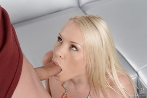 Deepthroat blowjob done by an European golden-haired girl Lola Taylor