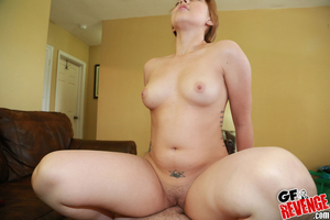 Cutie Courtney Loxx jerking rod for spunk fountain on all regular breasts