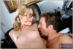 Fabulous coed in knee high  Elli Foxx very with a educator