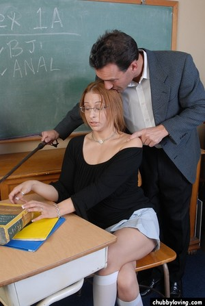 Chubby schoolgirl Laeh takes a severe anus hole smokin\' in classroom