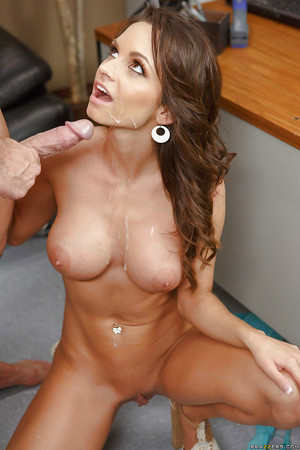 Pornstar with immense meatballs Ashley Sinclair has fucking action on the office table