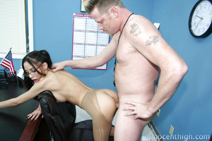 Cute girlfriend Alexis Love riding a hard dagger and getting merry