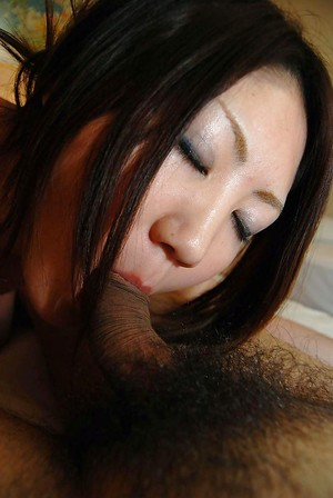 Concupiscent oriental infant Ayaka Kimura accepts facialized later passionate twatting