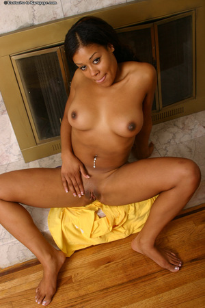 Young lass Sandy shows off her youthful Brown gazoo while undressing