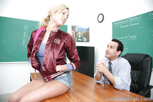 Nineteen bitch Victoria White needs to make her teacher grateful