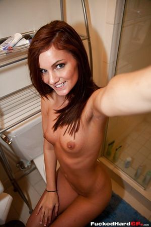 Desolate chicito Lily takes nude self shots and attains unclothed for shower time