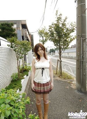 Chinese schoolgirl Nami Ogawa revealing her raw bosoms and dear fanny