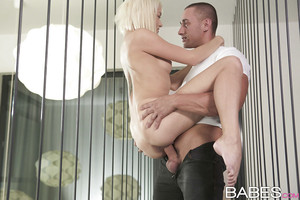 Hardcore teenager Olive Bell is riding tough on the massive dick!