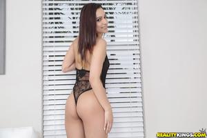 Miniscule Latin hottie spinner Jaye Summers undoing her denim underclothing in moist close ups