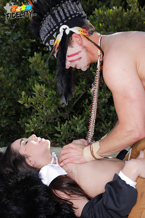 Cosplay model Karlee Grey acquires enjoy raped outdoors by a savage