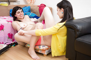 Pretty beauties Anahi and Carmen M explore the alluring world of girl-on-girl sex