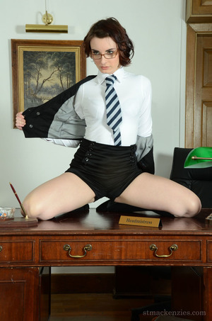 Fair-skinned schoolgirl in glasses Victoria Porter appear to be magnificent