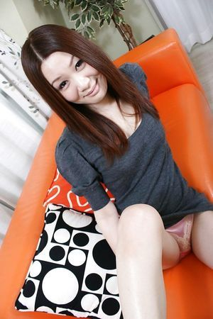 Chinese darling with  gash Nozomi Onodera undressing and stretching her legs