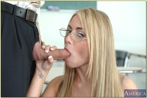 Slight coed in glasses Tyler Stevenz acquires her rigid love-cage limber