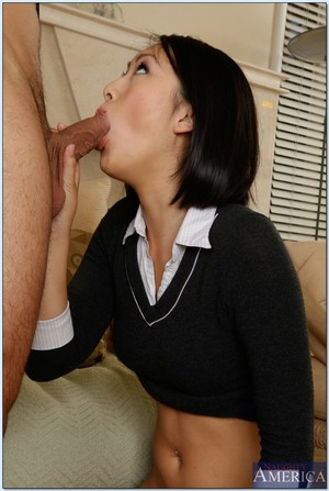 Asian university smokin\' with pervy hardcore-loving Evelyn Lin