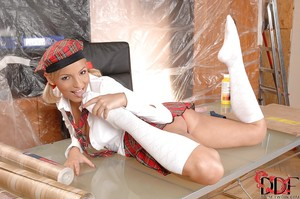 Exceptional schoolgirl Eve Smile is the tremendous foot fetish play model