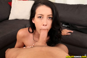 Ejaculation scene shows number 1 category oral sex from brown hair juvenile Alaina Kristar