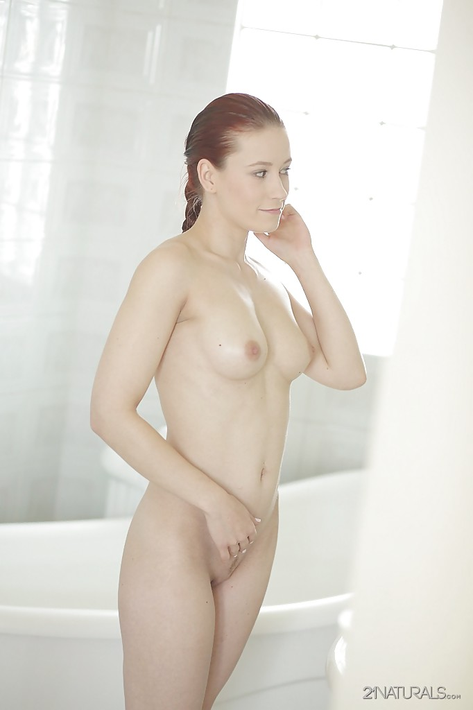 Teen babe Minnie Manga reveals her pornstar tiny tits in close up