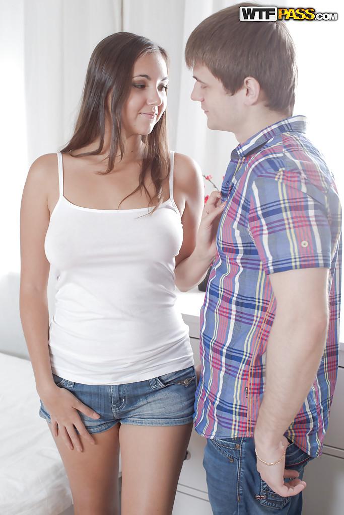 Brunette teen Jay Dee has a prefect set of all natural boobs