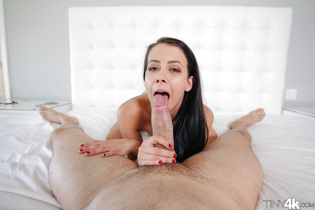 Teen spinner Alaina Kristar taking hardcore screwing from large cock