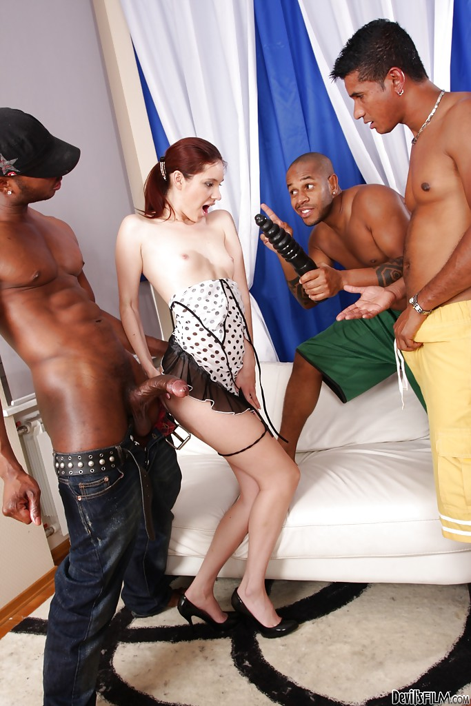 Gorgeous interracial anal groupsex with spicy as fuck Atlanta