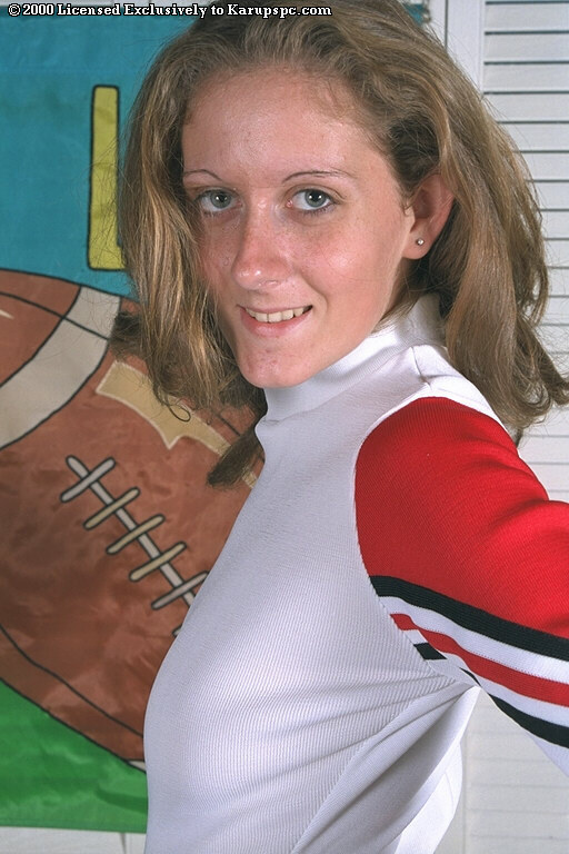 Amateur cheerleader Gabi shows off in her wonderful uniform
