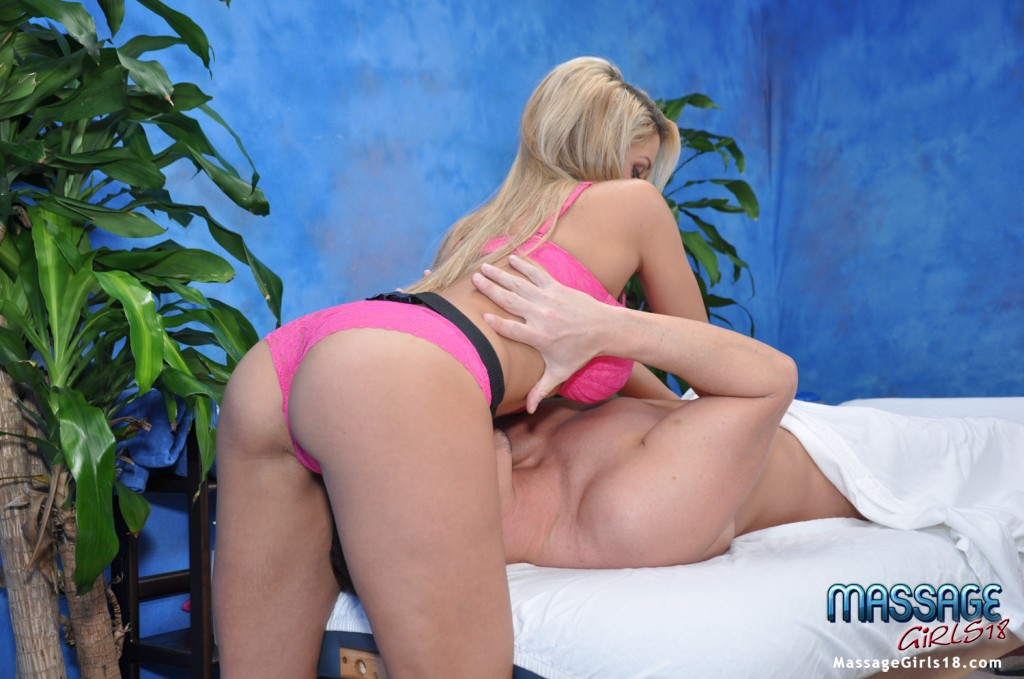 Big busted blonde babe gets her shaved pussy slammed and creampied