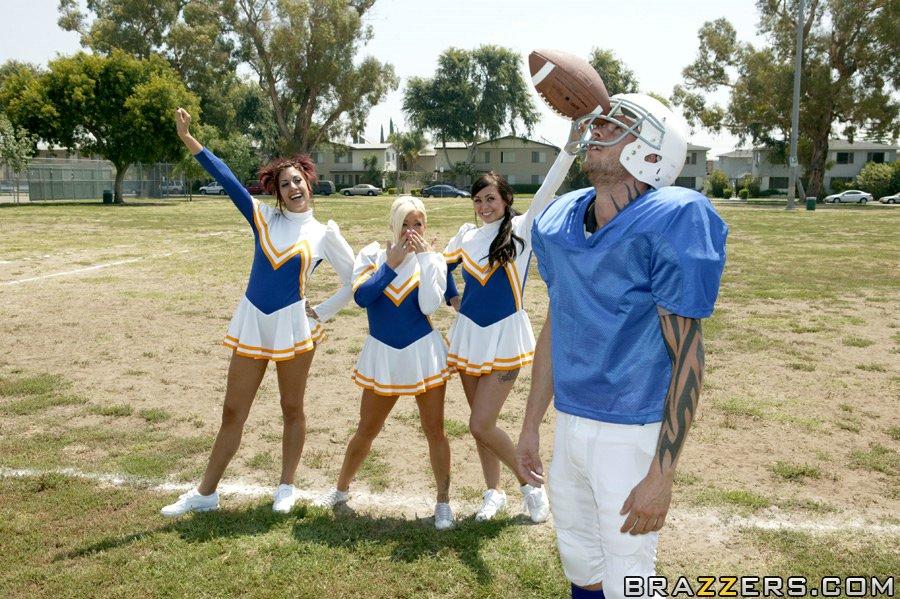 Busty cheerleader Crista Moore fucks till she screams from pleasure