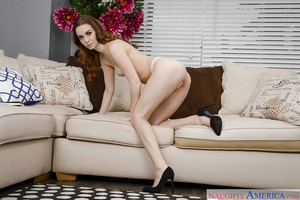 Coed solo hotty Tali Dova revealing unyielding infant wazoo and muff in high heels