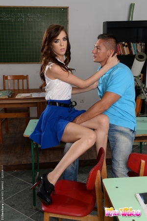 European schoolgirl Megan Maze acquires her petite bumpers teased and muff owned