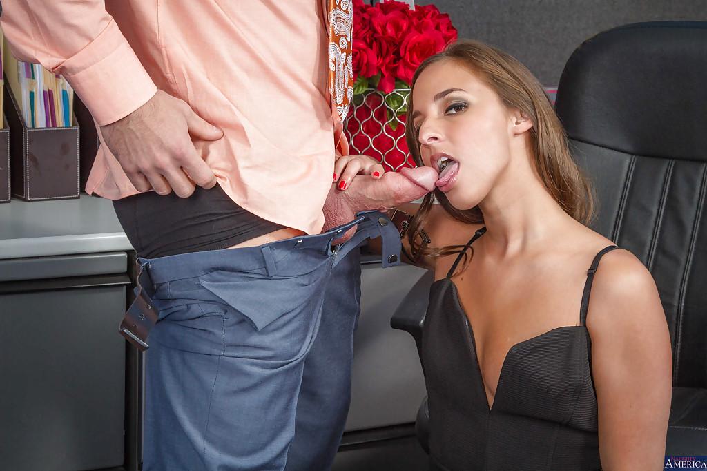 Office secretary Amirah Adara is getting this short but wide dick