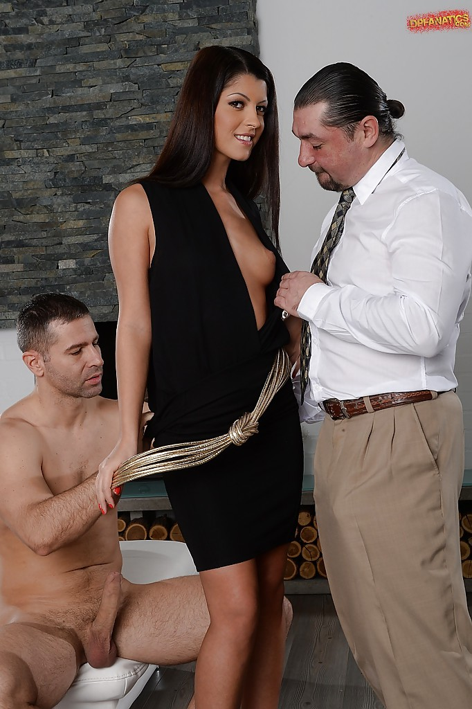 Two raging boners equal double penetration bliss for babe Vivien Bell