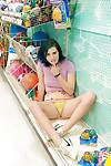 Slutty infant teen Skylar Anke getting really freaky in a gear store