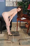 Gal next door Elektra Rose gets undressed unclothed for principal time as mother gave birth scene