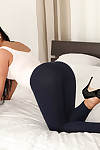 Infant dark hair Anna Rose masturbates and plays with her gazoo