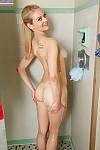 Fairy teenager Alli Rae caught jerking off hairless uterus in washroom