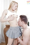 Concupiscent blonde adolescent Cherry Hotty getting gazoo drilled hardcore