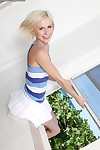 Yummy amateur chicito Hayley Hilton takes her white skirt off and standing