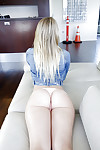 Dakota James shows off her juvenile amateur apple bottoms in white panties