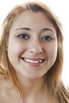 Juvenile Latin chick Marina Dear gives a deep oral play and swallows