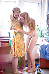 Legal age teenagers Laney and Caisa experiment with adolescent female-on-female act of love