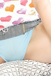 Close up scene with an unbelievable infant dear Rebecca Blue