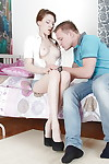 Slim young receives her smooth head love-cage slammed tough for a spunk fountain in her jaw