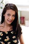 Teen dear Alaina Kristar demonstrates her infant ass during undressing