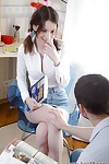 Arse hole fucking brown hair schoolgirl Kani accepts a largest shlong in her holes