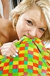 Blond prostitute with an ideal body Dakota Skye riding a big dagger