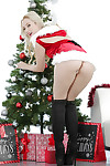 Christmas juvenile Harley Q demonstrates her hot white panties!