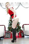 Christmas juvenile Harley Q demonstrates her hot white panties!